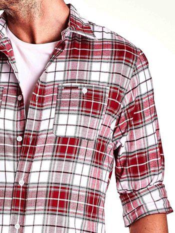 Czerwona koszula męska motyw kratki                                  zdj.                                  6