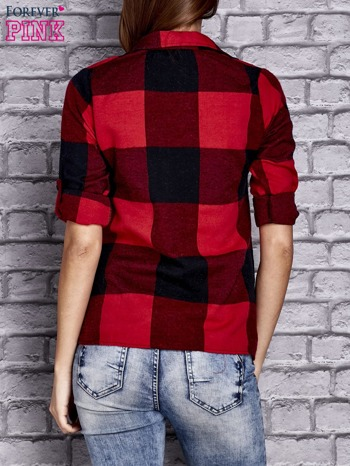Czerwona koszula w szeroką kratę                                  zdj.                                  4