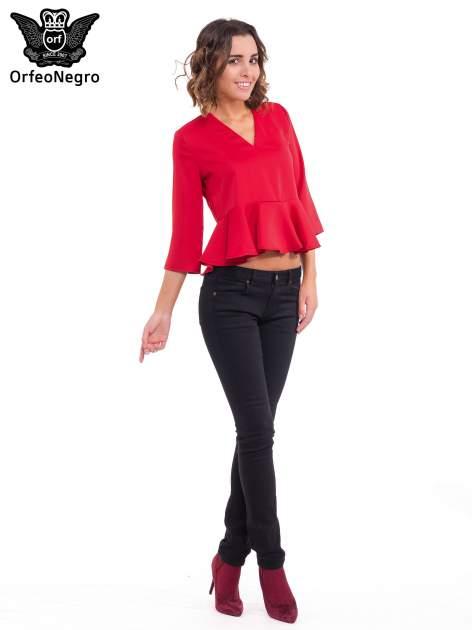 Czerwona koszula z baskinką                                  zdj.                                  4