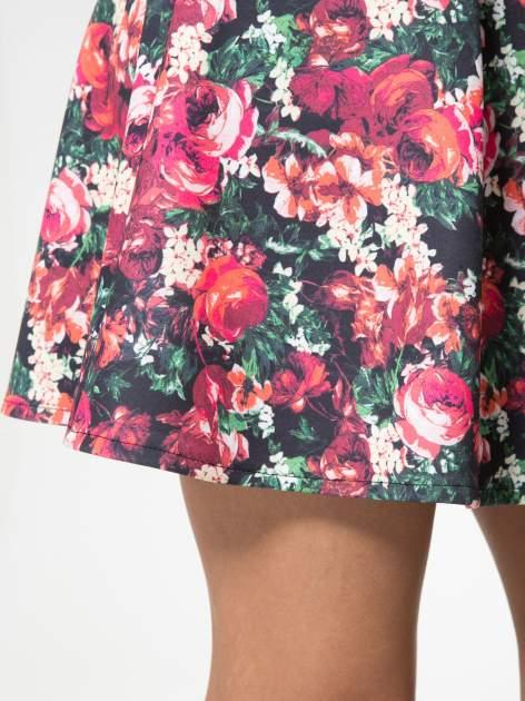 Czerwona kwiatowa mini pódnica skater                                  zdj.                                  9