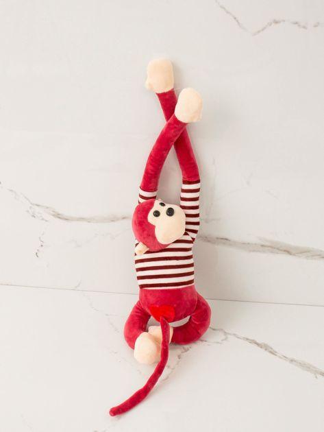 Czerwona maskotka Małpka                              zdj.                              1