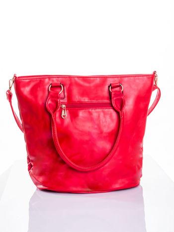 Czerwona pikowana torba na ramię                                  zdj.                                  3