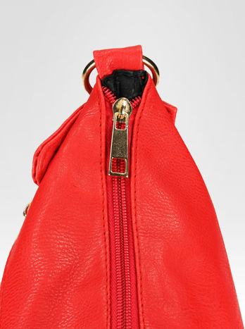 Czerwona pikowana torebka na ramię                                  zdj.                                  7