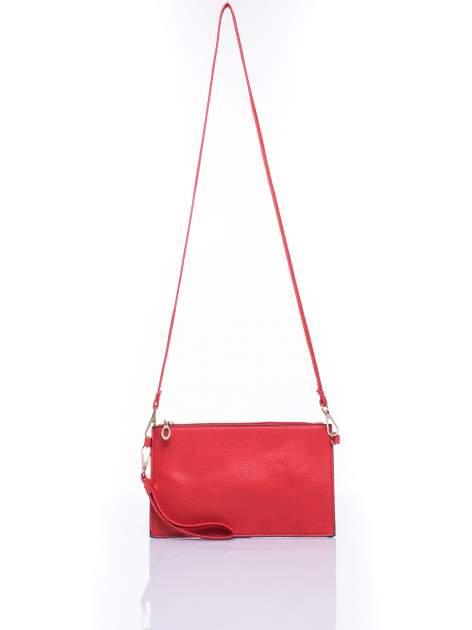 Czerwona prosta przewieszana torebka z uchwytem                                  zdj.                                  4