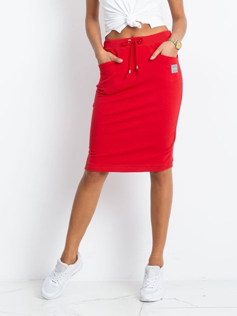 Czerwona spódnica Features                              zdj.                              1