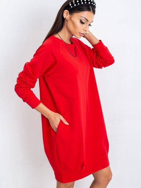 Czerwona sukienka Cristine                              zdj.                              8