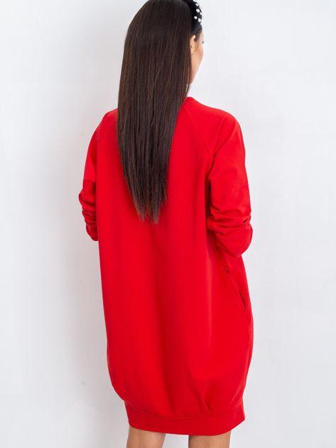 Czerwona sukienka Cristine                              zdj.                              7