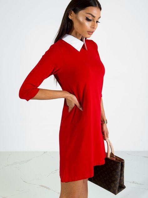 Czerwona sukienka Poppy                              zdj.                              3