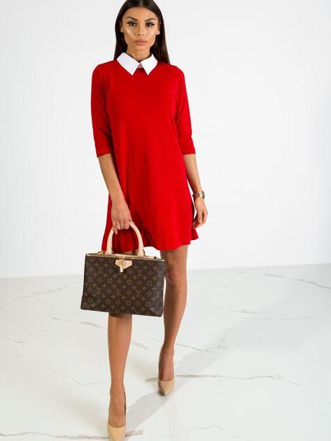 Czerwona sukienka Poppy                              zdj.                              4