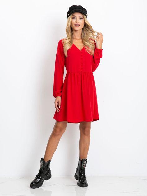 Czerwona sukienka Reason                              zdj.                              4