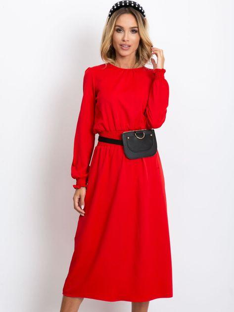 Czerwona sukienka Saffire                              zdj.                              6