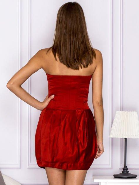 Czerwona sukienka bombka                                  zdj.                                  2