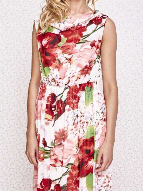 Czerwona sukienka maxi w kwiaty                                  zdj.                                  5
