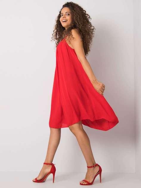 Czerwona sukienka na ramiączkach Polinne OCH BELLA
