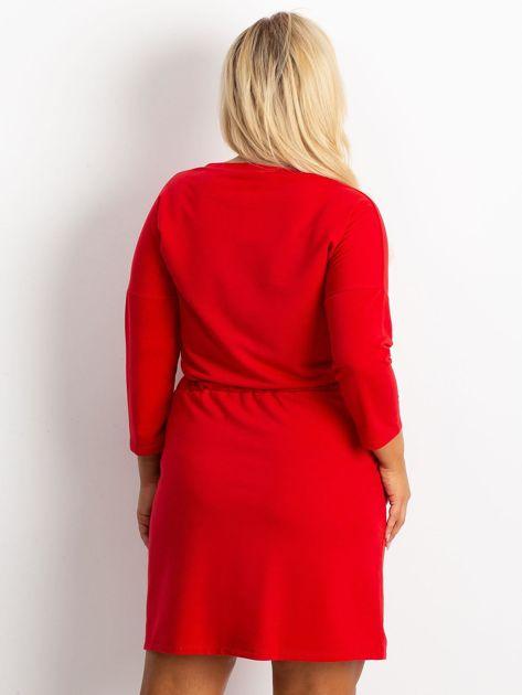 Czerwona sukienka plus size Lyric                              zdj.                              2