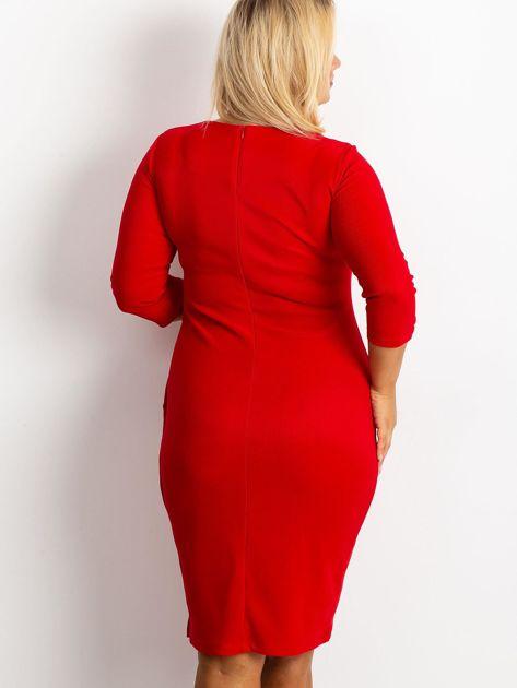 Czerwona sukienka plus size Miley                              zdj.                              2
