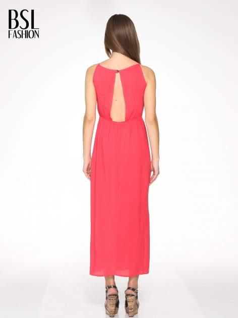 Czerwona sukienka w stylu greckim                                  zdj.                                  4