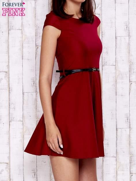 Czerwona sukienka z suwakiem na plecach                                  zdj.                                  3