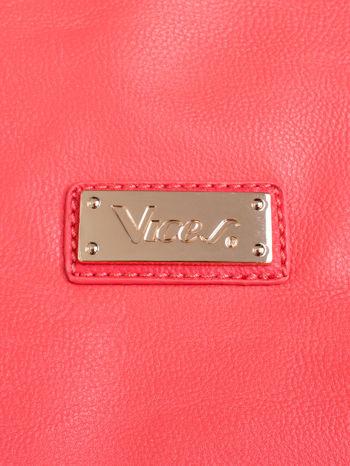 Czerwona torba shopper bag z kolorowymi ćwiekami                                  zdj.                                  5