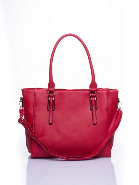 Czerwona torba shopper bag z odpinanym paskiem                                  zdj.                                  2