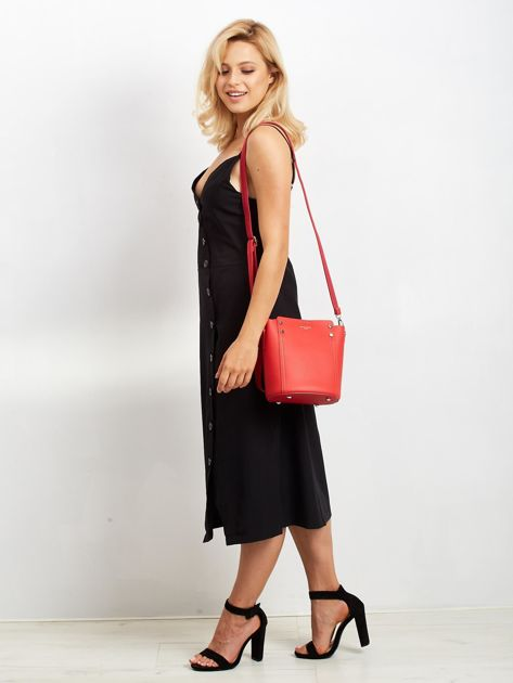 Czerwona torba z odpinanym uchwytem                              zdj.                              5