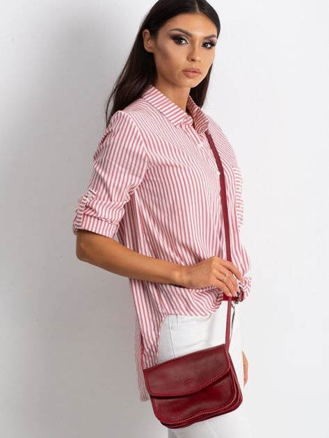 Czerwona torebka damska ze skóry                              zdj.                              1