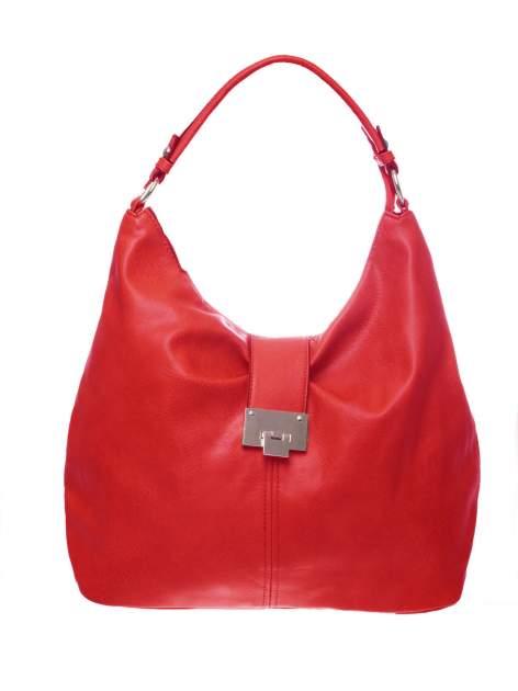 Czerwona torebka hobo z zapięciem