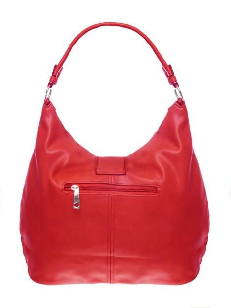 Czerwona torebka hobo z zapięciem                                  zdj.                                  2