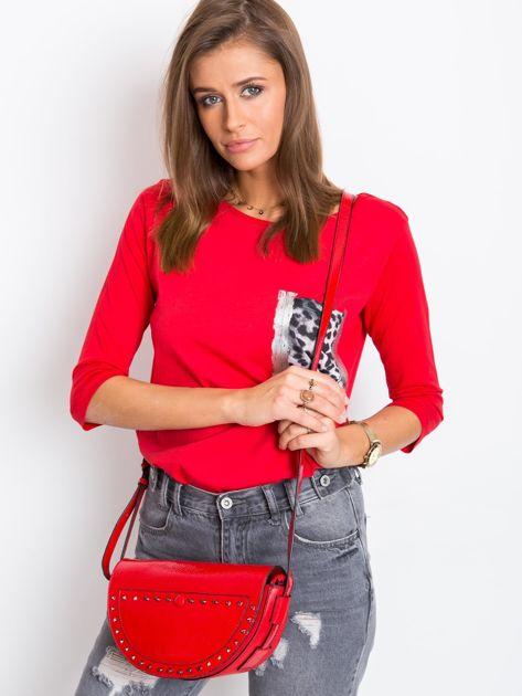 Czerwona torebka saddle bag