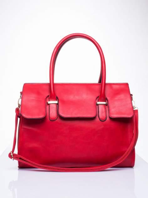 Czerwona torebka teczka z klapką                                  zdj.                                  2