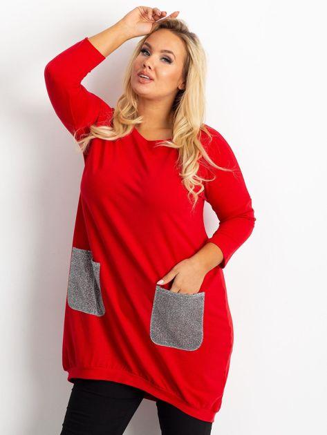 Czerwona tunika plus size Amber                              zdj.                              1