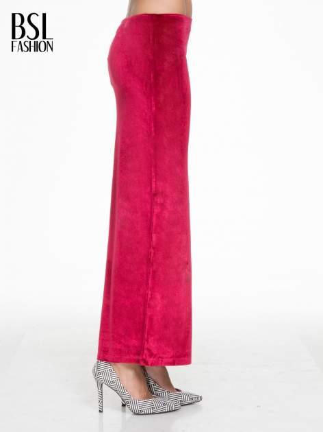 Czerwona zamszowa spódnica maxi z rozporkiem                                  zdj.                                  4