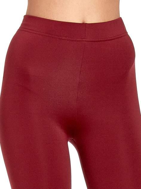 Czerwone legginsy basic z lekkim ociepleniem                                  zdj.                                  5