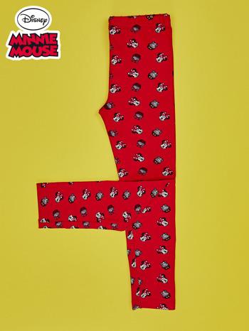 Czerwone legginsy dla dziewczynki MINNIE MOUSE                                  zdj.                                  2