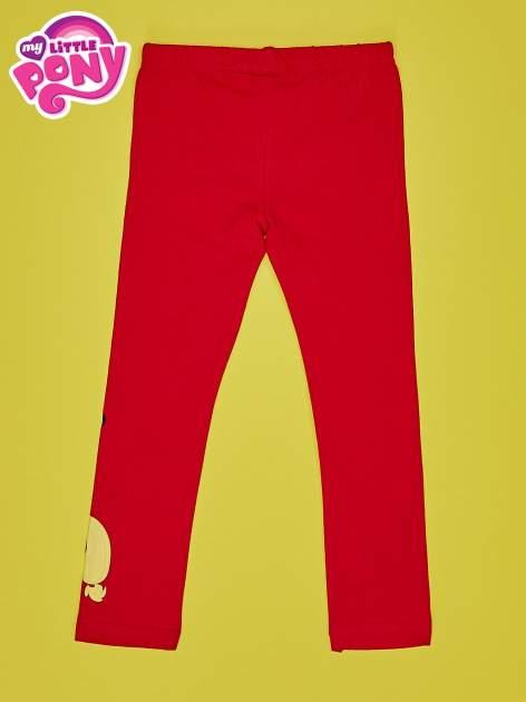 Czerwone legginsy dla dziewczynki motyw MY LITTLE PONY                                   zdj.                                  2