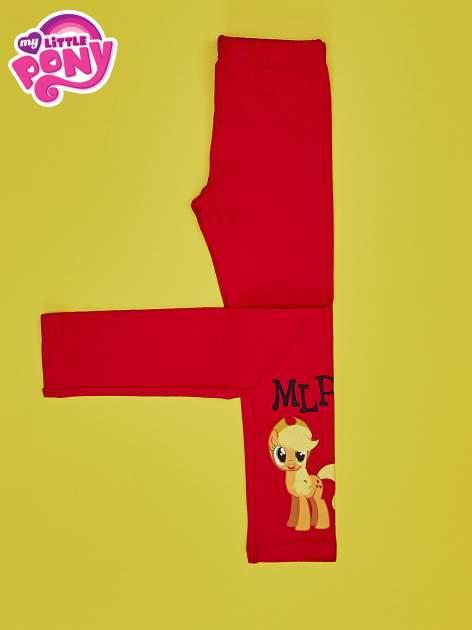 Czerwone legginsy dla dziewczynki motyw MY LITTLE PONY                                   zdj.                                  3