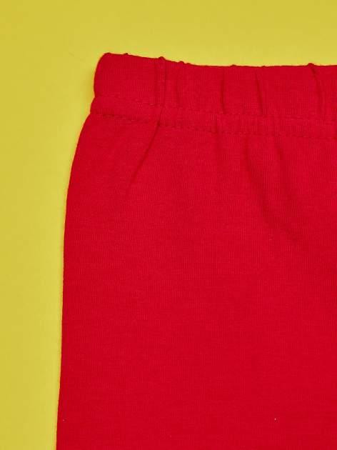 Czerwone legginsy dla dziewczynki motyw MY LITTLE PONY                                   zdj.                                  4