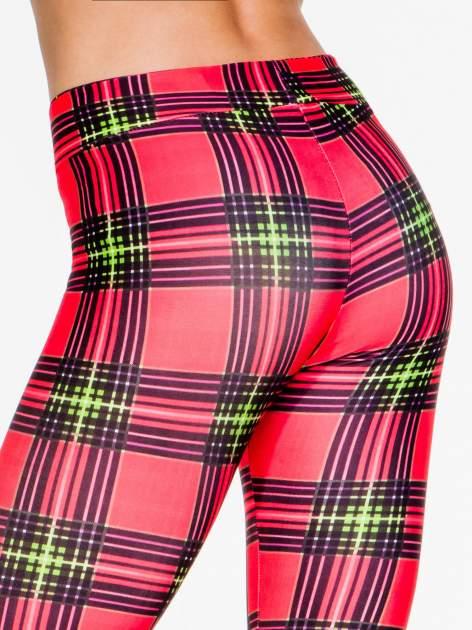 Czerwone legginsy w kratę                                  zdj.                                  9