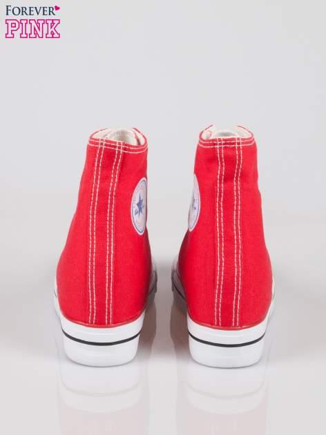 Czerwone sneakersy trampki damskie na koturnie Liliana                                  zdj.                                  3