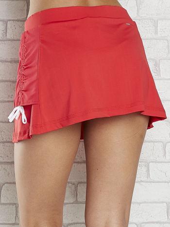 Czerwone spodenki spódniczka tenisowa z troczkami na bokach                                  zdj.                                  6