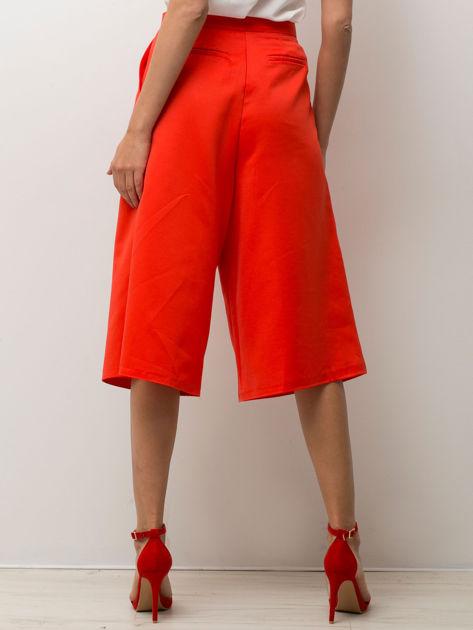 Czerwone spódnicospodnie typu culottes                                  zdj.                                  4