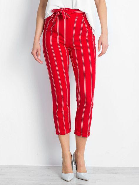 Czerwone spodnie Bespoke