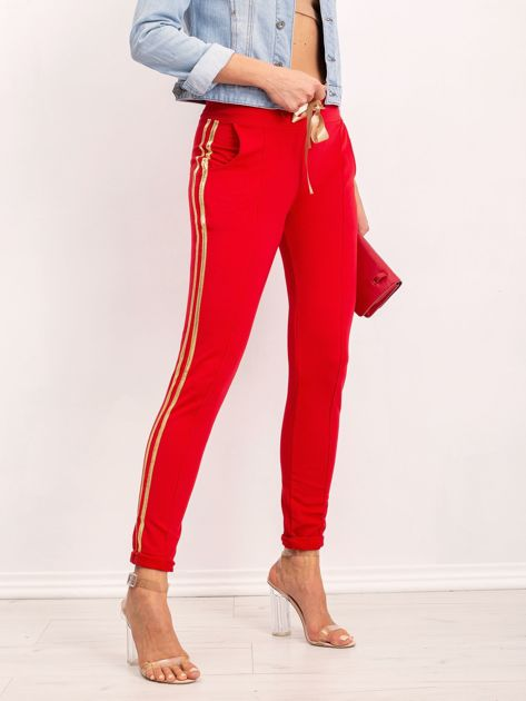 Czerwone spodnie Voila                              zdj.                              3