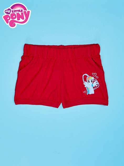 Czerwone szorty dla dziewczynki MY LITTLE PONY