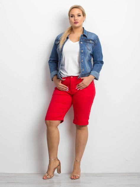 Czerwone szorty plus size Sophisticaded                              zdj.                              4