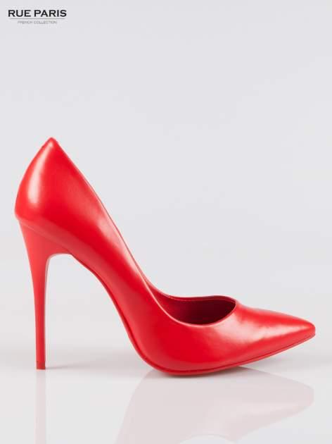 Czerwone szpilki high heels z noskiem w szpic