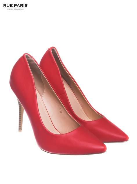 Czerwone szpilki ze smukłym noskiem                                  zdj.                                  2