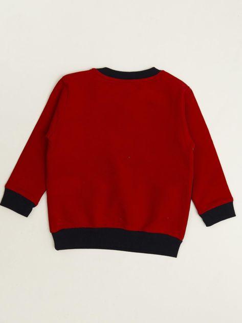 Czerwono-granatowy komplet dresowy dla niemowlaka                              zdj.                              3