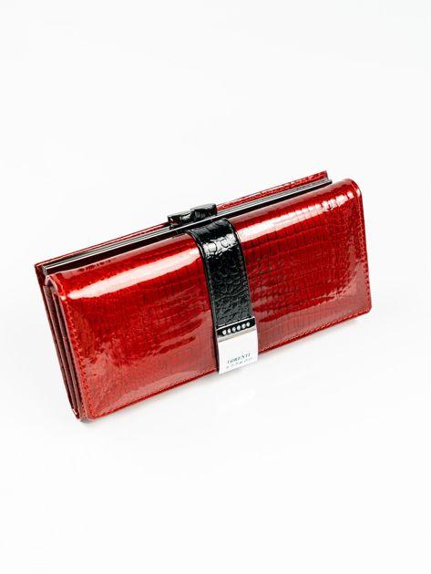 5ade65bb464d7 Czerwony lakierowany portfel damski skórzany - Akcesoria portfele - sklep  eButik.pl
