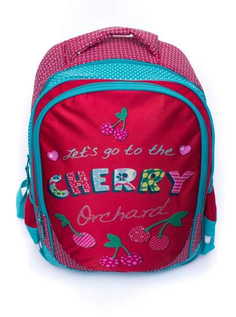 Czerwony plecak szkolny DISNEY w wisienki                                  zdj.                                  5